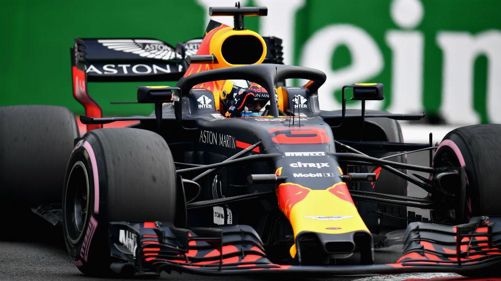 Ricciardo, durante el GP de México. (AFP)