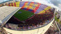 El mosaico del Camp Nou en el Clásico Barcelona – Real Madrid.
