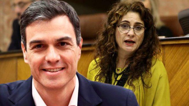 El presidente del Gobierno, Pedro Sánchez, y la ministra de Hacienda, María Jesús Montero.