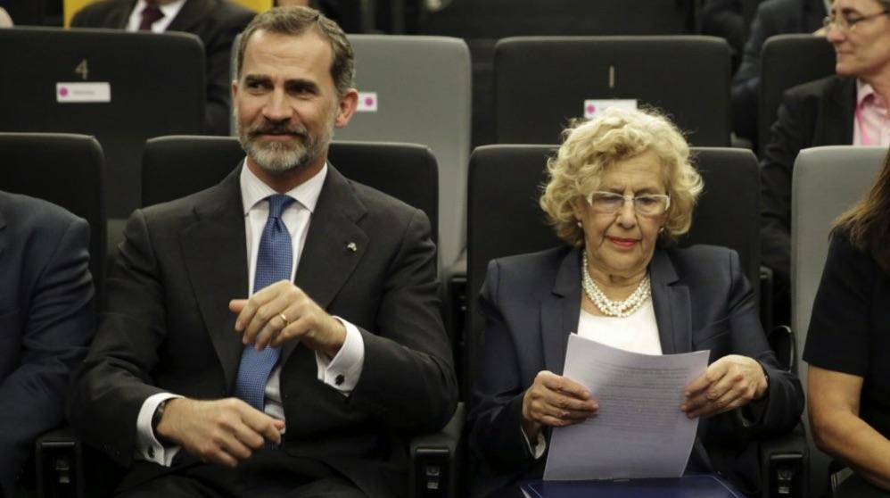El Rey Felipe VI junto a Manuela Carmena. (Foto. Madrid)