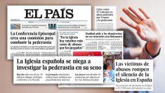 Algunas de las portadas de 'El País'