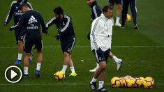 Julen Lopetegui, en un entrenamiento con el Real Madrid. (AFP)