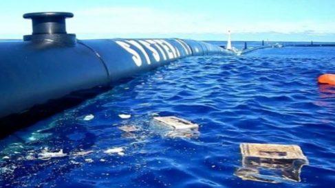 La limpieza de plásticos del Océano Pacífico se lleva a cabo con el System 001