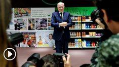 El presidente de Mercadona, Juan Roig, presenta los datos económicos de la compañía correspondientes al ejercicio de 2017 y las previsiones para 2018. (Foto: EFE/Manuel Bruque)