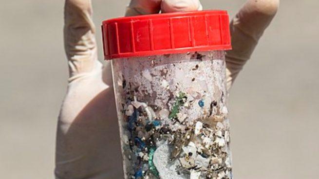 plásticos en las heces humanas