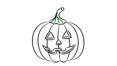 Una calabaza es uno de los dibujos más divertidos para hacer en Halloween