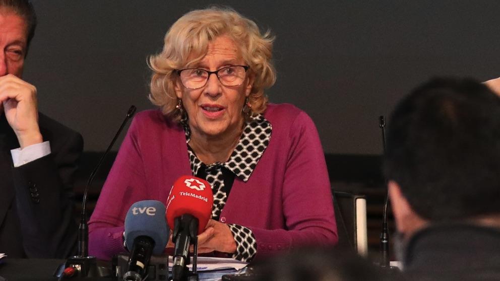 La alcaldesa Manuela Carmena en Matadero Madrid. (Foto. Madrid)