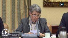 Rosa María Mateo, administradora de RTVE este martes en el Congreso