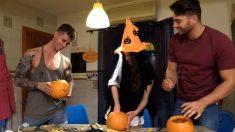 Los tronistas preparan la noche de Halloween en 'MYHYV'.