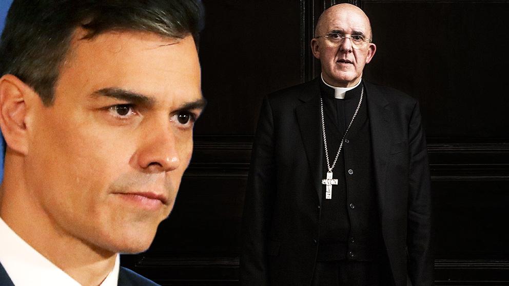 Pedro Sánchez, presidente del Gobierno, y Carlos Osoro, arzobispo de Madrid