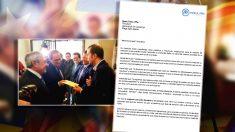 Carta de un concejal del PP de Tarrasa al presidente de la Generalit, Quim Torra.