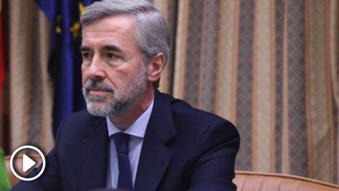 Ángel Acebes este miércoles en el Congreso (EP).