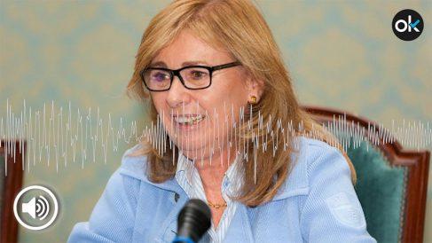 La presidenta del tribunal de la Universidad Politécnica.