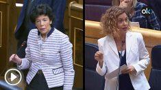 La ministra de Educación, Isabel Celaá, y la titular de Política Territorial y Función Pública, Meritxell Batet.