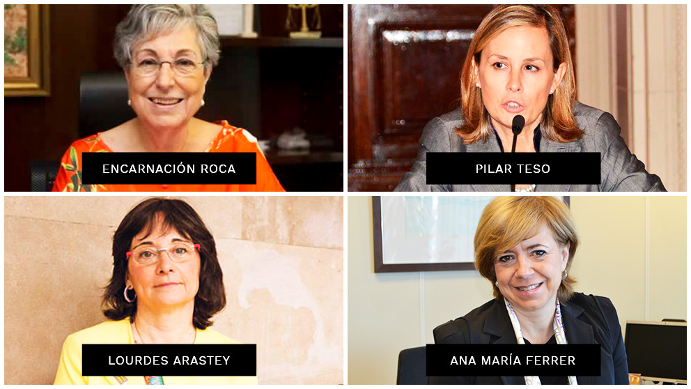 Las magistradas Encarnación Roca, Pilar Teso, Lourdes Arastey y Ana María Ferrer.