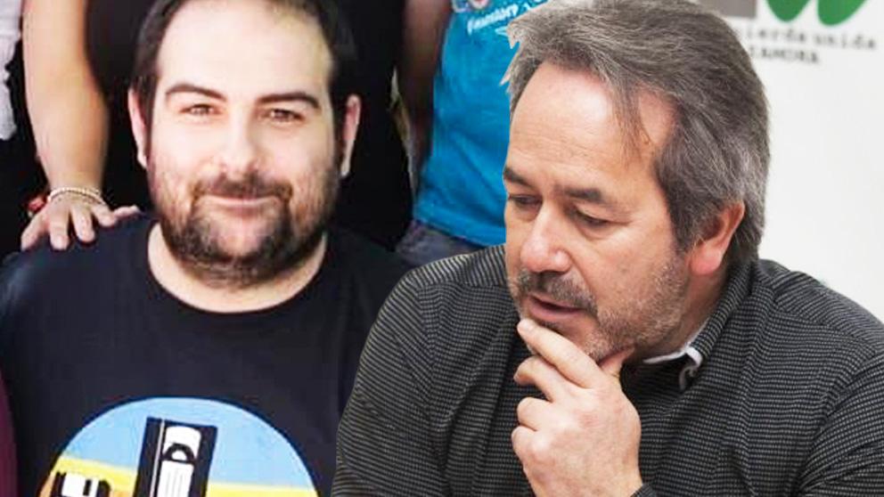 El asistente Jorge Navas y el alcalde de Zamora, Francisco Guarido. (Foto: IU Exterior / IU Zamora)