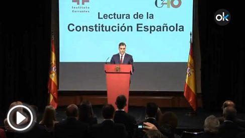 """Pedro Sánchez entre la Constitución y la """"plurinacionalidad"""""""
