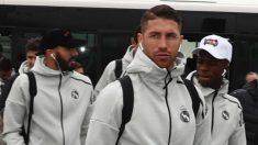 El Real Madrid llegando a un hotel de concentración antes de un partido.