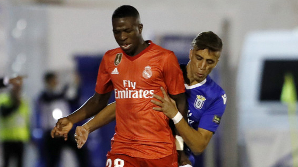 Vinicius, ante el Melilla en Copa del Rey.