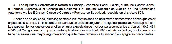 El PSOE vota con Podemos y Bildu despenalizar los insultos a militares, guardias civiles y policías