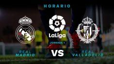 Liga Santander 2018 – 2019: Real Madrid – Valladolid | Horario del partido de fútbol de Liga Santander.