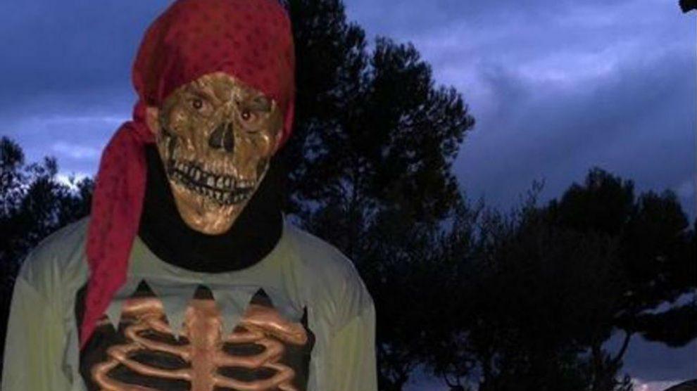 Messi, disfrazado de pirata.