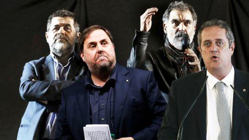 Oriol Junqueras, Joaquim Forn, Jordi Sànchez y Jordi Cuixart