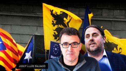 Oriol Junqueras junto al ex secretario general de su Conselleria, Josep Lluís Salvadó.