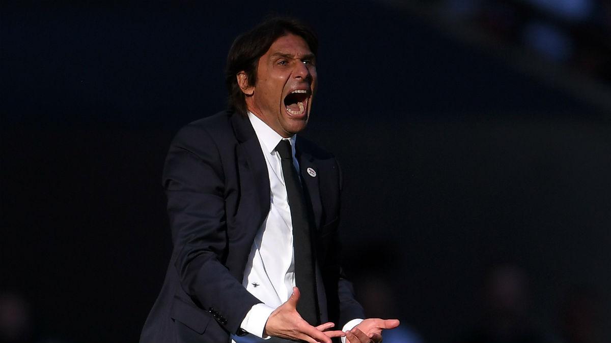 Antonio Conte se quejó del arbitraje. (Getty)