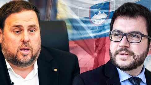Oriol Junqueras y el actual presidente de la Generalitat, pere Aragonés.