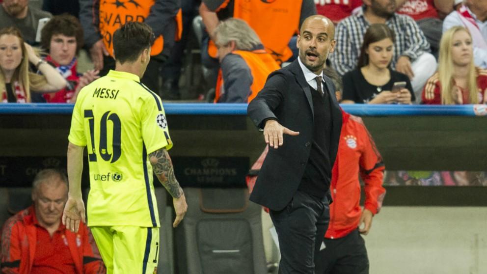 Messi y Guardiola, en una imagen de archivo. (AFP)