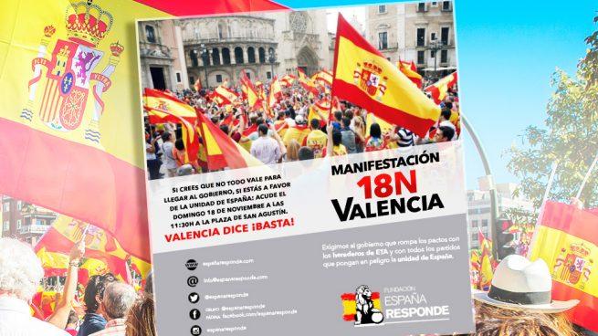 Los organizadores de la marcha españolista contra Sánchez en Barcelona lo harán ahora en Valencia
