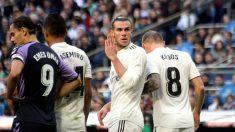 Bale, durante un partido ante el Valladolid. (Enrique Falcón)