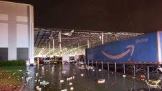 Un centro logístico de Amazon se ha derrumbado en la ciudad norteamericana de Baltimore provocando, al menos, dos muertes. Foto: Twitter