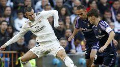 Bale controla ante el Valladolid.