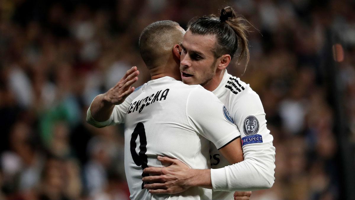 Gareth Bale y Benzema formarán la dupla de ataque del Real Madrid (Getty).