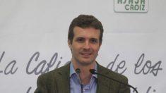 Pablo Casado este sábado en Cádiz (EP).