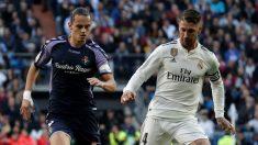 Sergio Ramos durante el Real Madrid – Valladolid. (Getty)