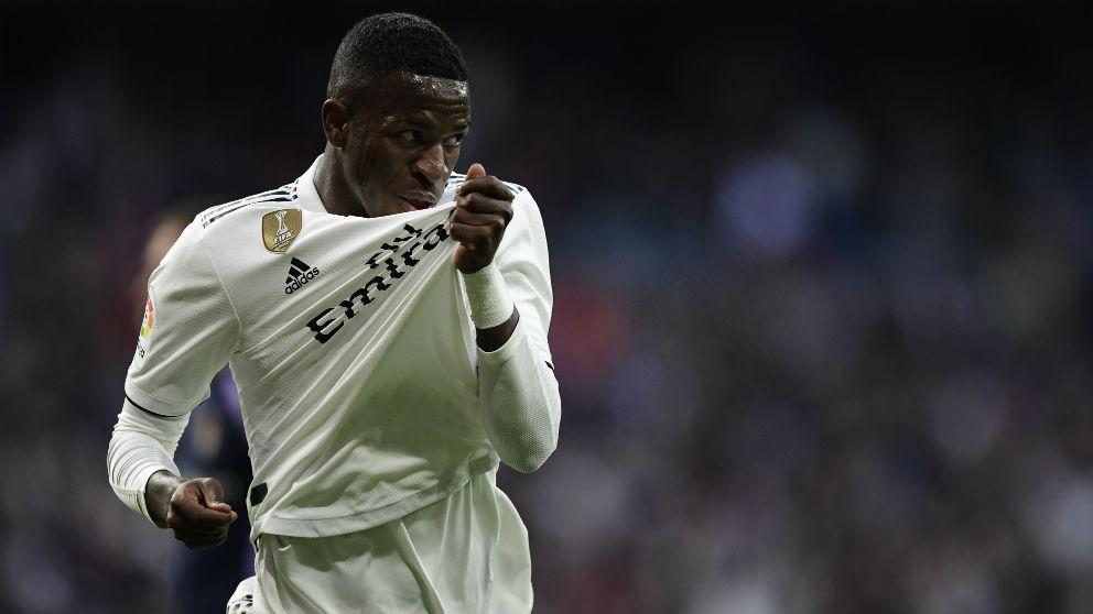 Vinicius, en el Real Madrid – Valladolid (AFP)