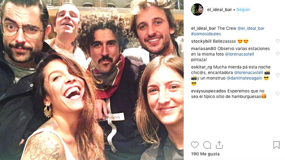El actor Dani Mateo promociona su bar de Malasaña en su cuenta de Instagram.