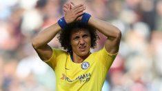 David Luiz, durante un partido con el Chelsea. (Getty)