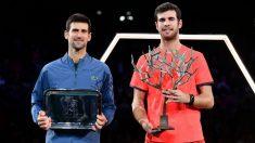 Khachanov venció a Djokovic en la final del Masters 1.000 de París-Becy. (Getty)