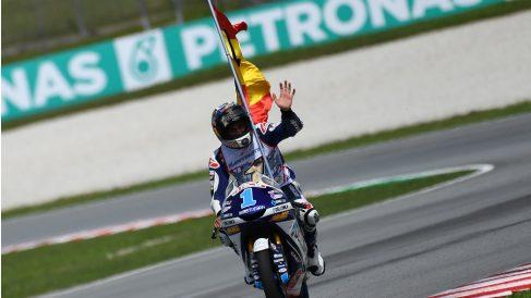 Jorge Martín, flamante campeón del mundo de Moto3. (AFP)
