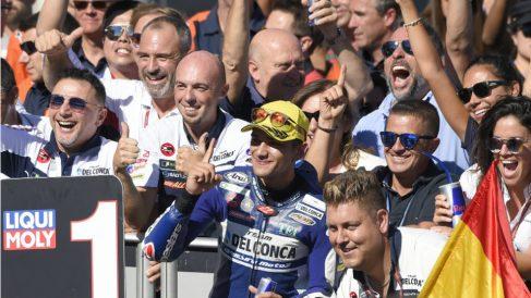 Jorge Martín es el primer madrileño que gana un Mundial en motociclismo. (AFP)