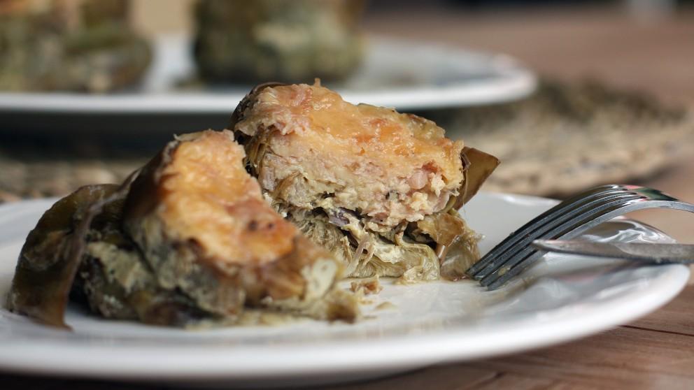 Receta de alcachofas rellenas de carne