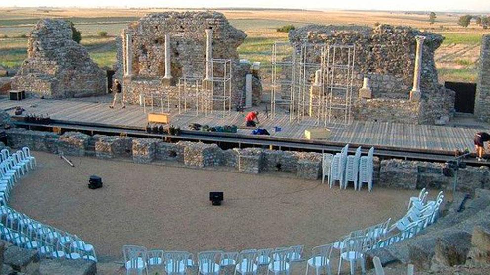 El teatro romano de la antigua ciudad romana de Regina, en Badajoz.