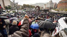 Pensionistas se manifiestan en Bilbao. EFE