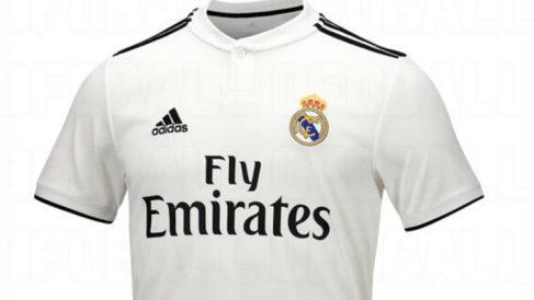 Camiseta del Real Madrid con Adidas.