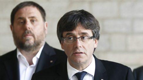 Orioj Junqueras y Carles Puigdemont.