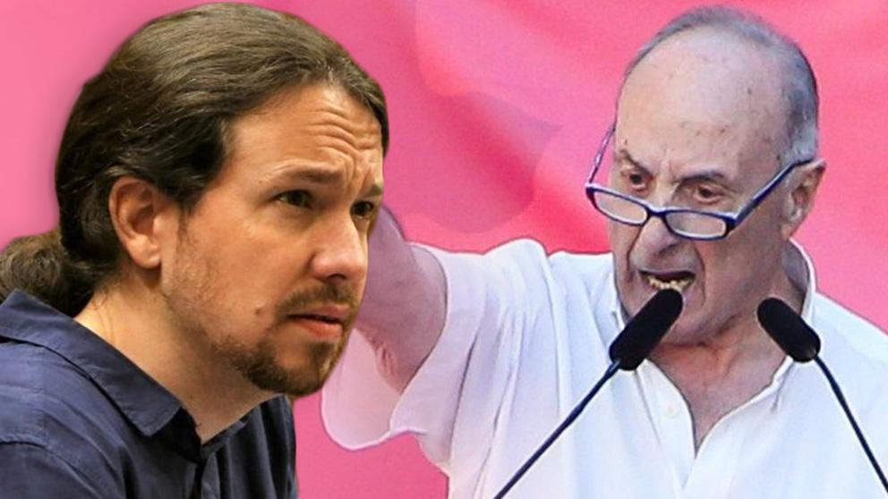 Pablo Iglesias y Francisco Frutos.